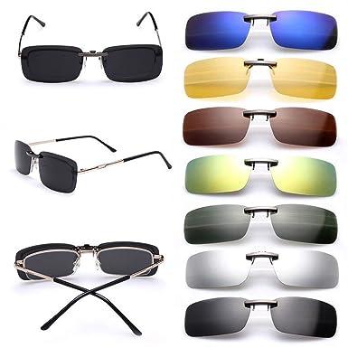 Gafas de sol polarizadas de clip, UV400, para conducción, aire libre, antirreflejos, para hombre y mujer, de Cosprof: Amazon.es: Ropa y accesorios