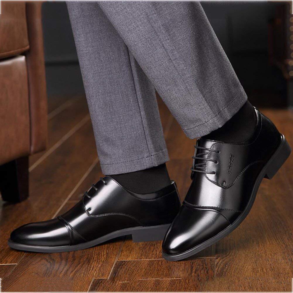 FuweiEncore Herren-Formale Schuhe, Frühlings Schuhe, Spitzen Schuhe, Spitze Zehenschuhe, Zehenschuhe, Zehenschuhe, Perfekt Für Einen Tag Im Büro,schwarz,38 (Farbe   Wie Gezeigt, Größe   Einheitsgröße) 86ac6e