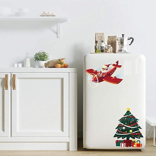 AMTQD Pegatinas de Pared Árbol de Navidad 3D Nevera Armario Aseo ...