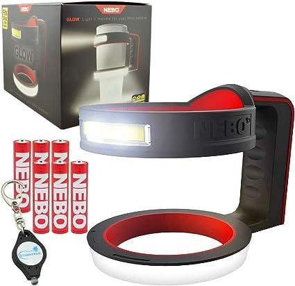 Nebo Glow 220 lumen Flashlight 6668 tumbler Handle with 3 X EdisonBright AAA Alkaline batteries bundle