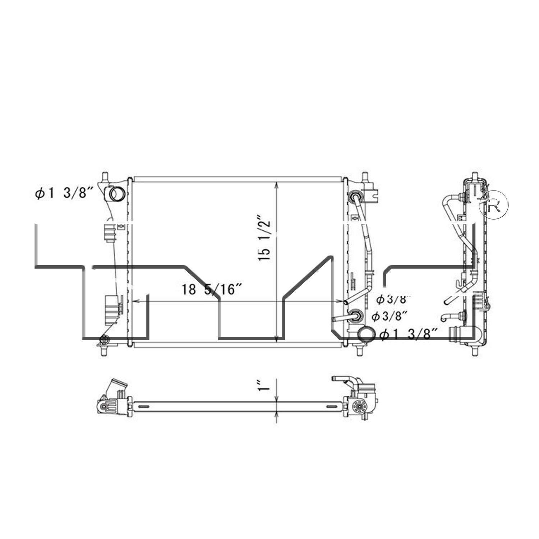 TYC 13415 Replacement Radiator for Hyundai Volestor