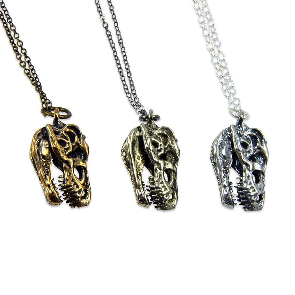 Solid Bronze 3D T Rex Necklace