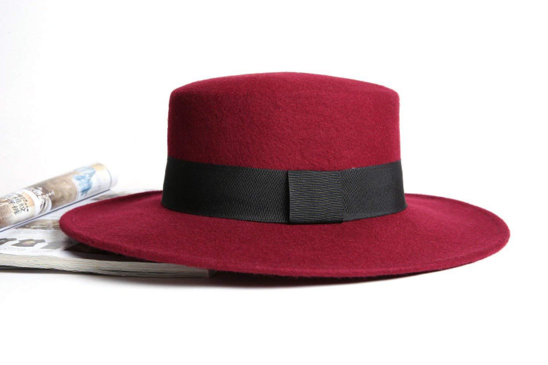 rot M CFHJN-hat Home Wollmütze schwarz vielseitiger Hut schwarzer Jazzhut