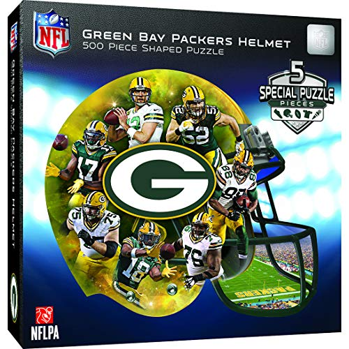 (MasterPieces NFL Green Bay Packers 500 Piece Helmet Shaped)