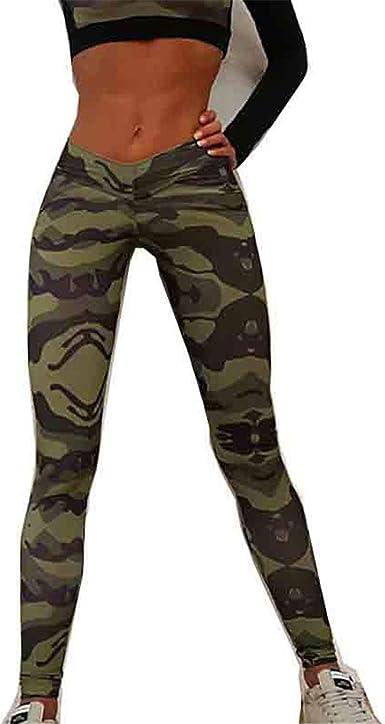 Fashion Women Lady Camouflage Gym Yoga Pants Summer Sports Long Trousers Workout