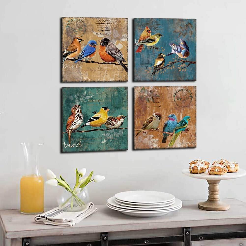 Bird Canvas Wall Art for Bedroom
