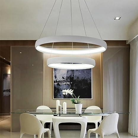 LED Luci pendenti Moderno Elegante 2 Anello Il giro Design Lampada a ...