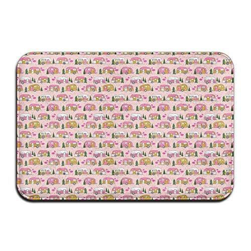 Flamingo Vintage Camper Non-slip Doormat Floor Door Mat Indoor Outerdoor  Bathroom 23 6 X 15 7 Inch