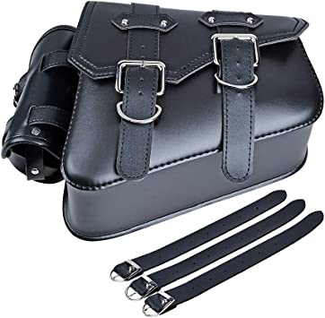 Right Motorcycle SOLO Saddle Bag Pannier Leather For Harley Davidson Sportster