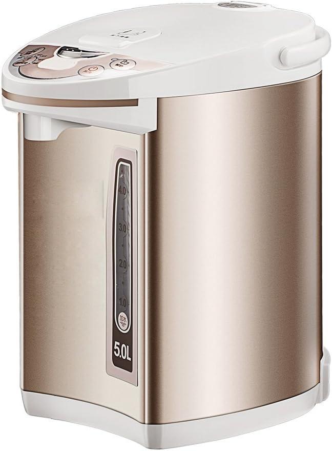 DWUN Caja Fuerte y eficiente Agua de Agua del Grifo Tetera eléctrica Termo 3-5 Minutos calefacción rápida, Conveniente para el Invierno Usado al Agua hirvienda, té hervido o café-de Oro: Amazon.es: Hogar