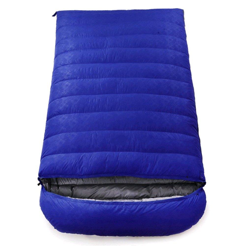 SHUIDAI Al aire libre Adulto que acampa abajo del saco de dormir de la pluma Cuatro estaciones alondra del sobre doble del saco de dormir ligero del par: ...