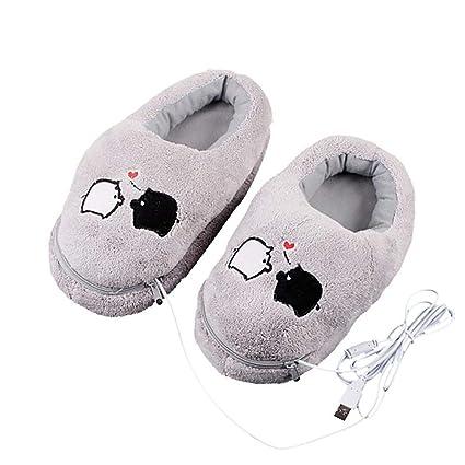 cdd26bad89a6 Electronic Foot Warmer Warm Feet Treasure Heating Shoes Cartoon Plush  Bedroom Office Hiking Student Electric Heating