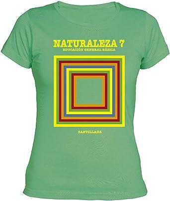Camisetas EGB Camiseta Chica Libro Naturales EGB ochenteras 80´s Retro: Amazon.es: Ropa y accesorios