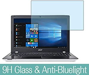 """Synvy Anti Blue Light Tempered Glass Screen Protector for Acer Aspire E15 E5-576-N58GW 2018 15.6"""" Visible Area 9H Protective Screen Film Protectors"""