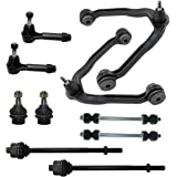 Detroit Axle - 4x4 Complete 10-Piece Front Suspension Kit -10-Year Warranty- Both (2) Upper Control Arm & Ball Joints, 2 Lower Ball Joints, All (4) Inner & Outer Tie Rod - 6-Lugs Wheels Only