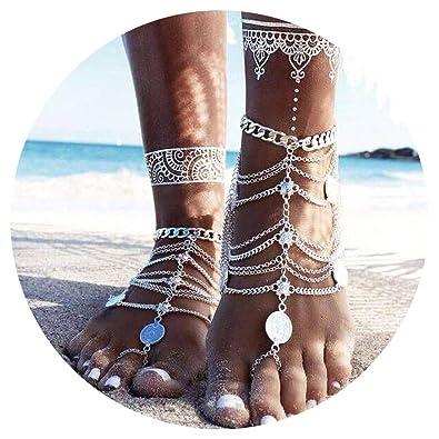 Simsly Bracelet La Plage Impression Pour Sandale De Cheville SVqUpzM