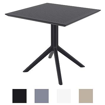 CLP Table de Jardin Sky 80x 80 cm- Table de Jardin Résistante aux ...