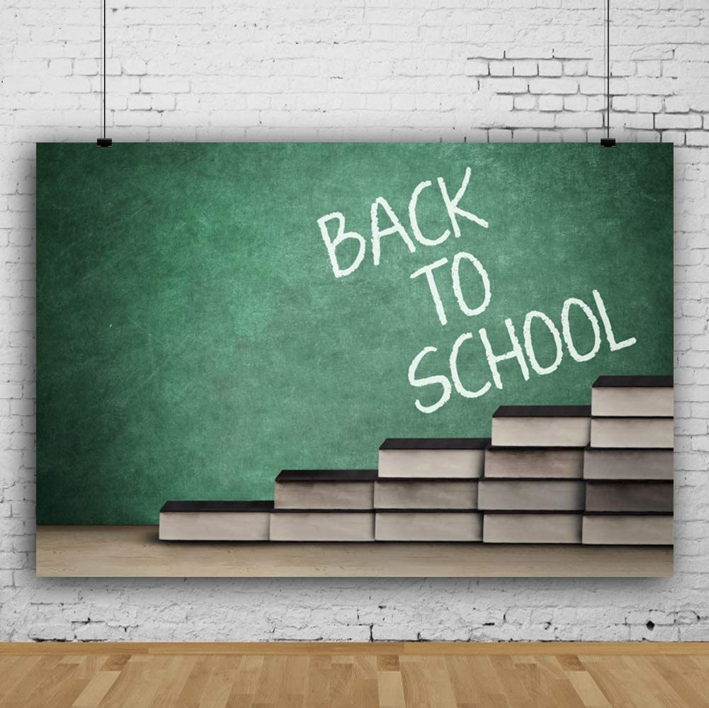 Yeele Back to School Backdrop 5x3ft Green Wall Board Photography Background High School Pre-K Student Party Banner Event Room Decor Photoshoot Photo Booth Props