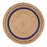 Anji Mountain AMB0363-080R Kerala Midnite Area Rug, 8', Natural/Blue