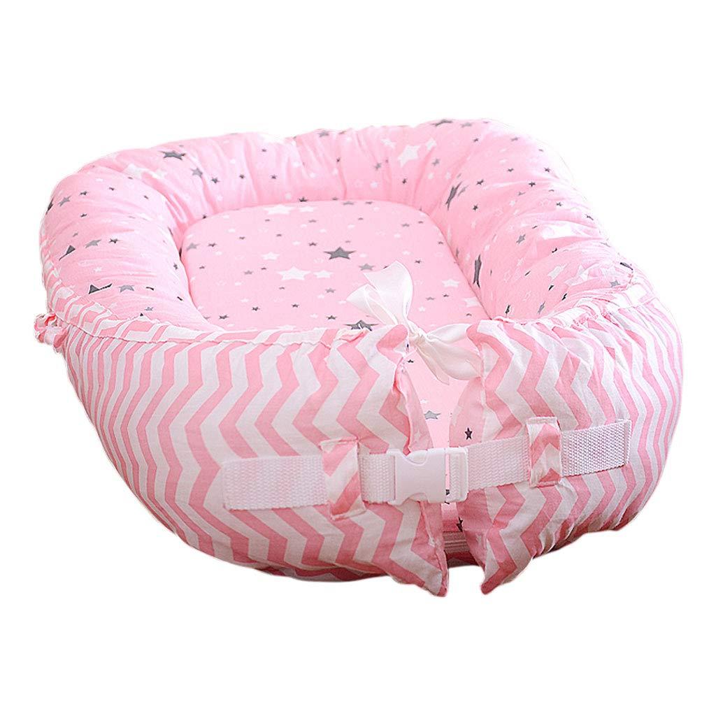 HUYP ベビースナッグルポッドネストゲームクッションベビー新生児ベビーポータブルアンチプレッシャートラベルベッド0-18ヶ月 (色 : Light pink)  Light pink B07PRXDFFR