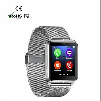 Reloj Inteligente Bluetooth con Facebook WhatsApp Sync SMS,Pódometro,Control de Musica,Reloj
