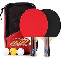 Dilwe Juego de Tenis de Mesa Juego de Ping Pong Incluye 2 Paletas 3 Bolas de Ping Pong y Estuche de Transporte Concurso