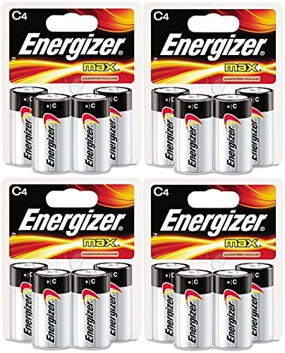 Energizer Max C Cell Alkaline Battery, 16 Batteries (4 X 4 Count Packs) by Energizer