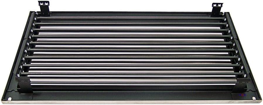 Kaltluftgitter KG 4523 MESM Edelstahl Blende matt 450 x 230 mm mit Einbaurahmen