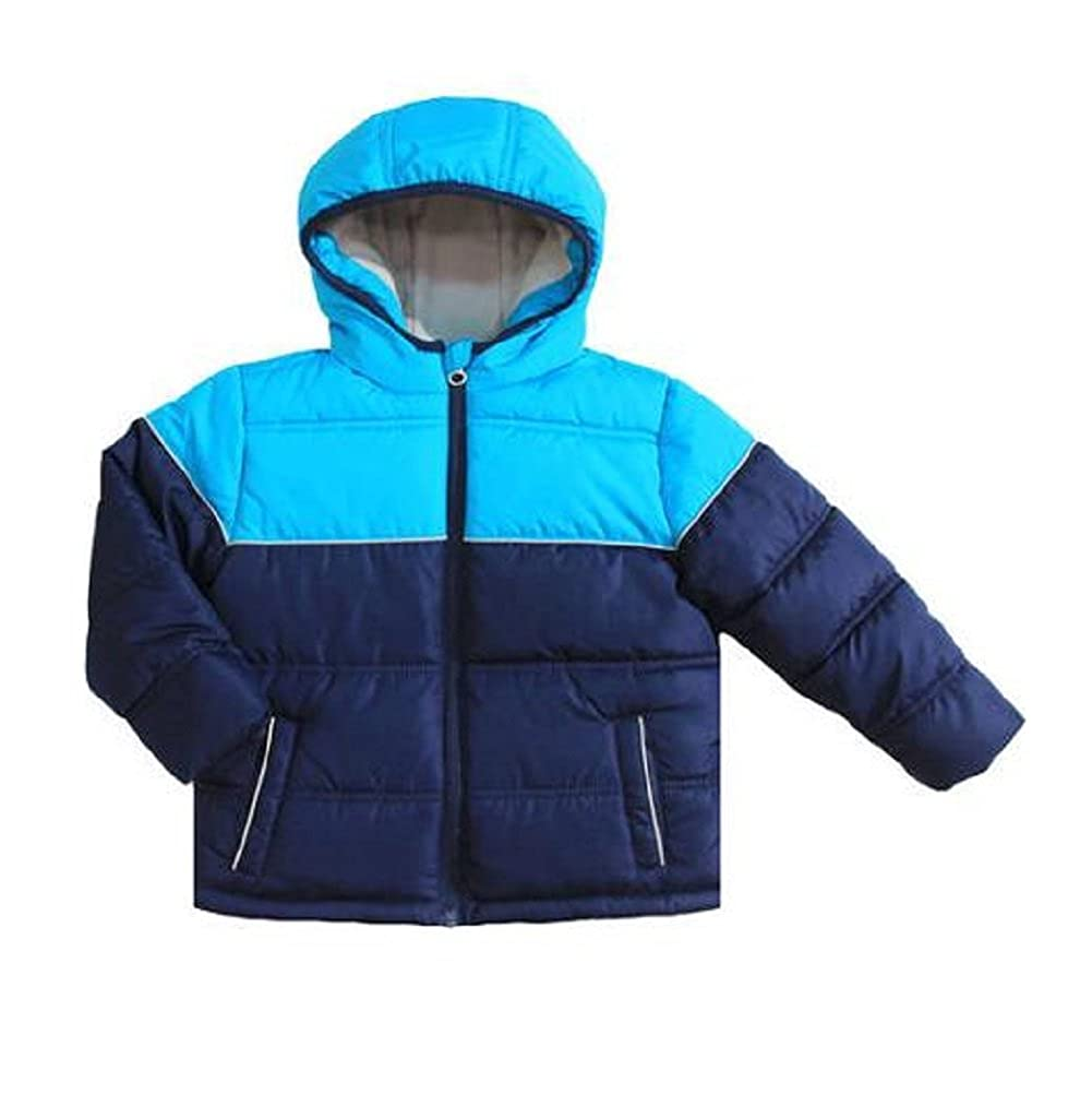 Healthtex Baby 12M Puffer Bubble Style Hooded Jacket Coat Blue