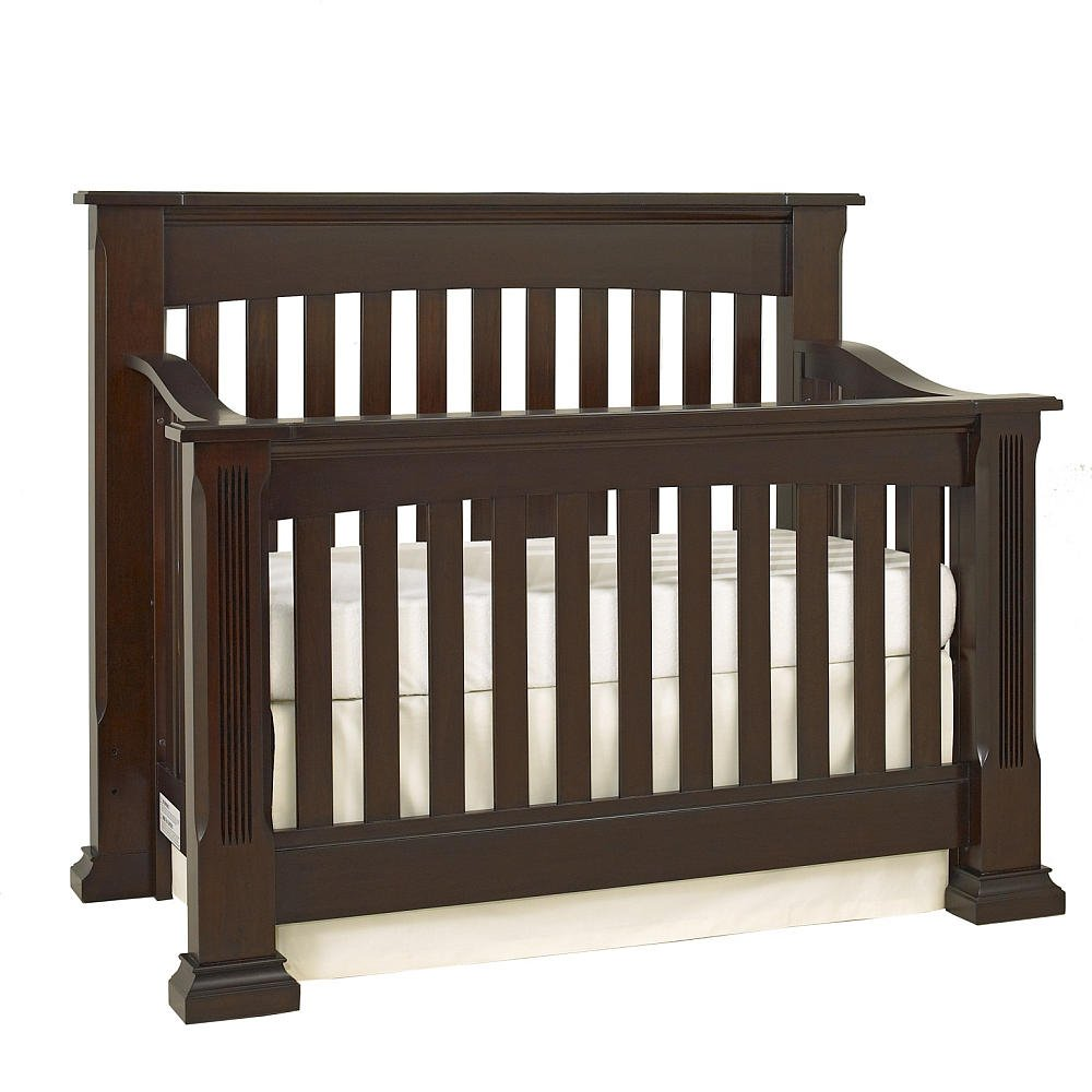 Queen Size Conversion Kit Bed Rails for Baby Cache Tahoe Crib - Espresso