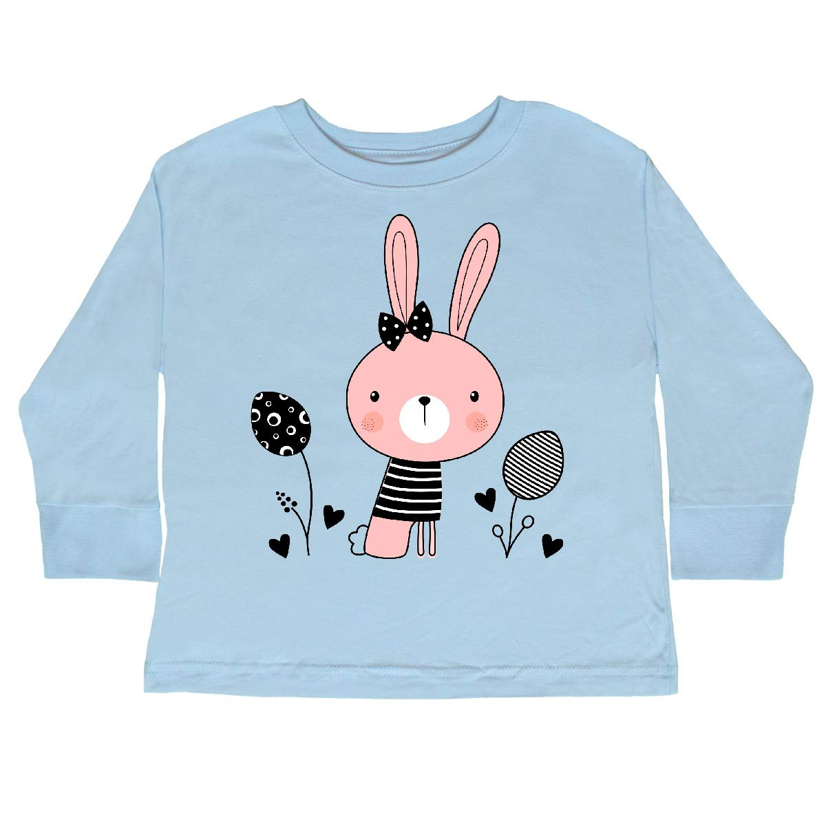 inktastic Easter Bunny Rabbit Spring Outfit Toddler Long Sleeve T-Shirt
