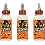 Gorilla Wood Glue, 8 ounce Bottle, (Pack of 3)