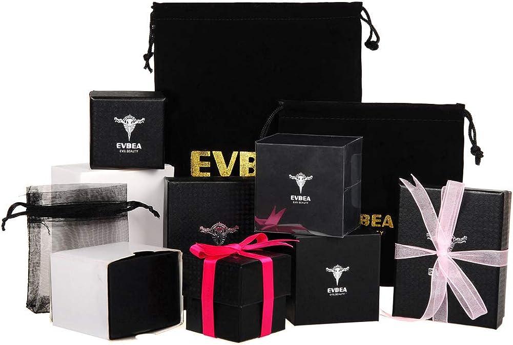 EVBEA Bague Homme Acier Inoxyable Noir Mariage Promesse Anneaux Large Titane Titanium Bijoux Cadeau pour Homme