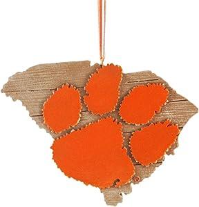 Clemson University Hanging State Shaped Ornament