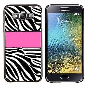 LECELL--Funda protectora / Cubierta / Piel For Samsung Galaxy E5 E500 -- Línea Modelo rosado Negro Blanco --