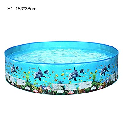 Inflatable Kiddie Pool,Inflatable Family Paddling Swimming Pool Indoor & Outdoor for Kids and Adults Paddling Pool Toy with Repair Patch: Home & Kitchen
