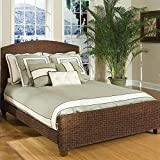 Home Styles Queen Cabana Banana Woven Panel Bed in Cocoa Finish
