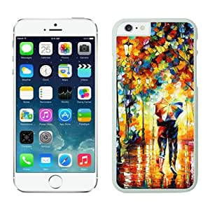 Iphone 6 Plus Case 5.5 Inches, Romantic Art Rain Day Street Slim White Phone Protective Cover Case for Apple Iphone 6 Plus Mobile Accessories by lolosakes