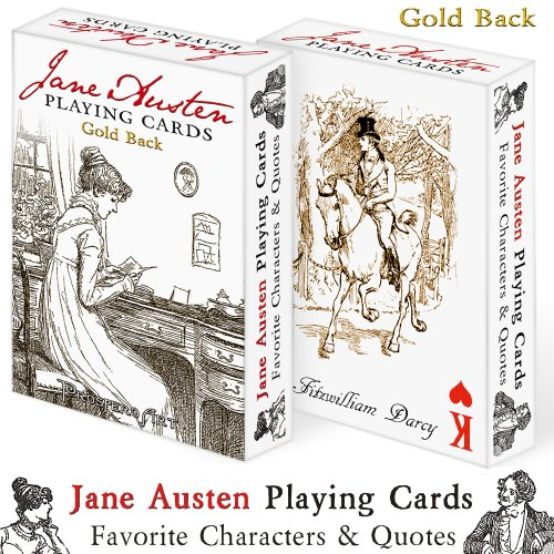 Jane Austen Playing Cards 'Gold Back'