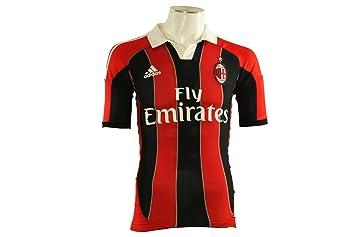 Adidas ACM H AUTH JSY Camiseta de Futbol Milan con el Caso Negro Rojo para Hombre Techfit: Amazon.es: Deportes y aire libre