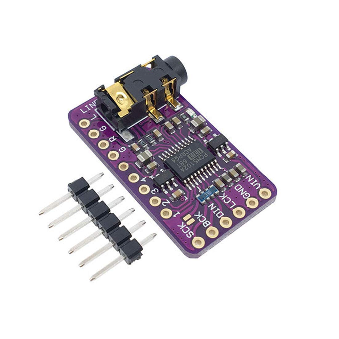 HiLetgo PCM5102 I2S IIS Lossless Digital Audio DAC Decoder Module Stereo DAC Digital-to-Analog Converter Voice Module for Arduino Raspberry Pi