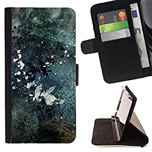 Momo Phone Case / Flip Funda de Cuero Case Cover - Negro y blanco Grunge;;;;;;;; - Sony Xperia M4 Aqua