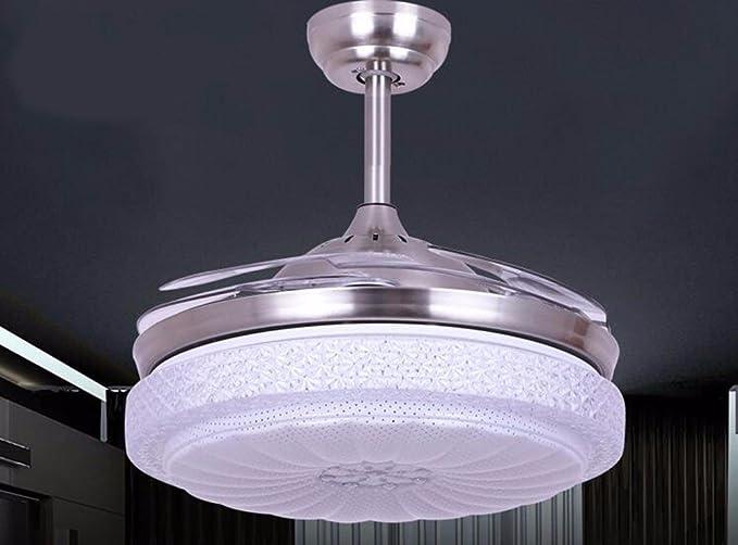 Gzlight ventilatore da soffitto luci lampadari moderni invisibile