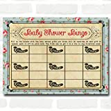 Shabby Chic Tea Party Baby Shower Games Bingo Cards