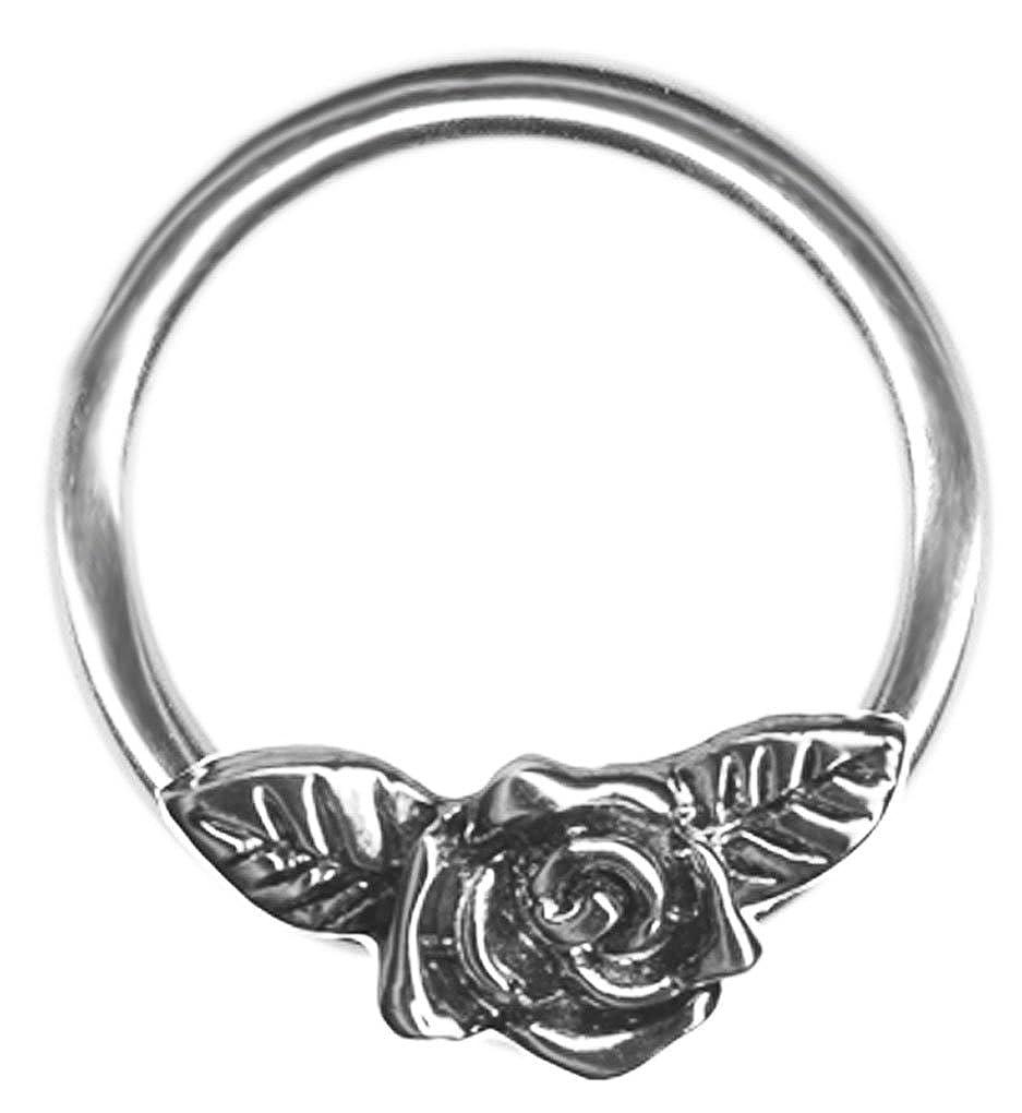Amazon.com: A-20 gauge Earring-One 20g 3/8 inch Rose Flower ...