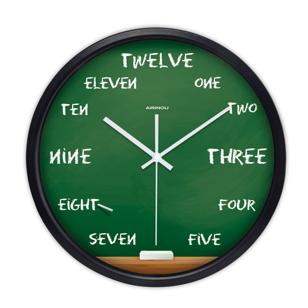 パーソナライズされた腕時計ウォールクロックリビングルームモダンな創造的なミュートベッドルームシンプルなレストランクォーツ時計の懐中時計12インチ14インチ (Color : Black frame, Size : 14 inches) B07CSR271SBlack frame 14 inches