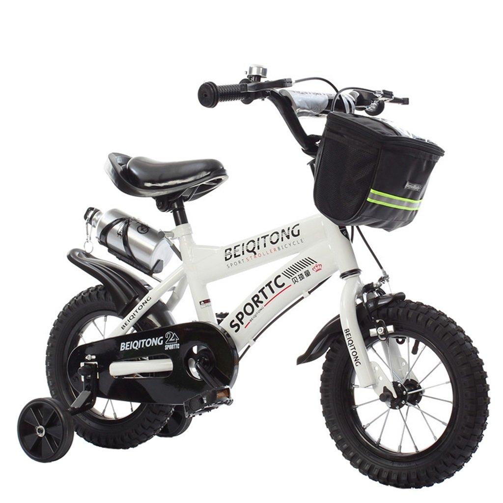 KANGR-子ども用自転車 子供用自転車適切な2-3-6-8男の子と女の子子供用玩具屋外用マウンテンバイクハンドルバーとサドルはトレーニングホイールで調節可能な高さにできますウォーターボトルとホルダー-12 / 14/16/18インチ ( 色 : 白 , サイズ さいず : 14 inches ) B07BTYCGZ3 14 inches|白 白 14 inches