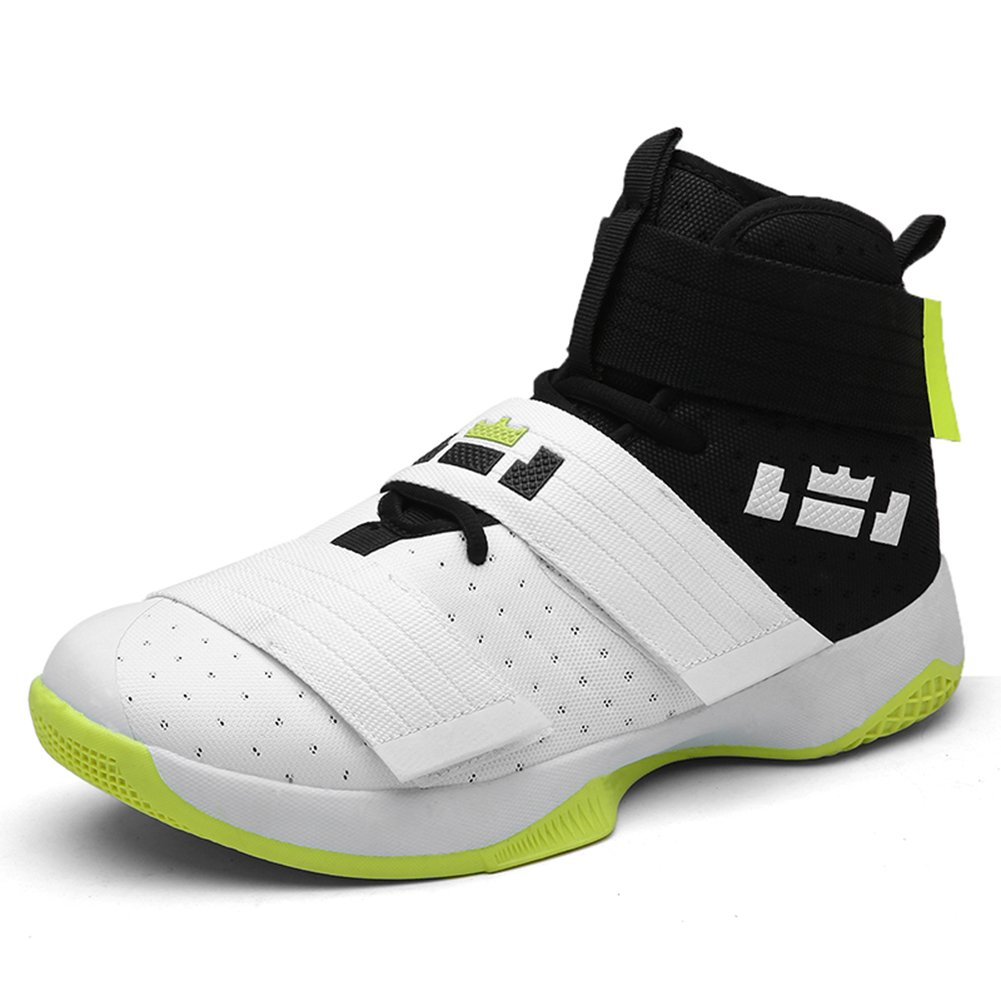 YOKOT Unisex Basketball Sports Shoes Athletic Velcro Rubber Walking Outdoor Sneakers B079DSDX91 10 M US Green