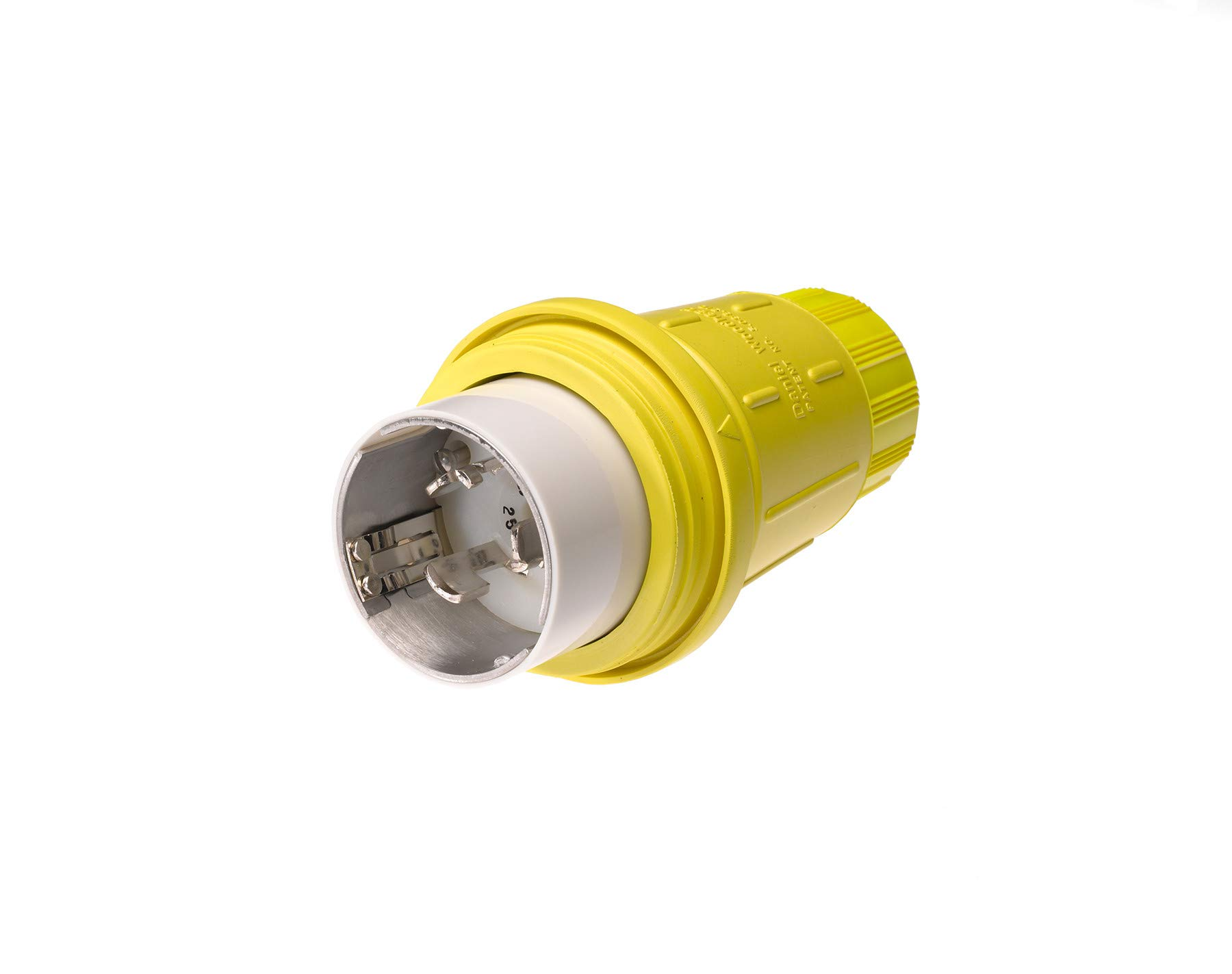 Woodhead CS84W65 Watertite Locking Blade Connector - 3 Pole/4 Wire Industrial Duty Connector with 50 A, 250 V. IC Wiring Accessories