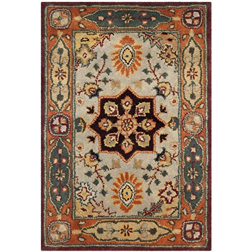 Safavieh Persian Legend Collection PL812A Handmade Traditional Red and Rust Wool Area Rug (2' x 3') ()